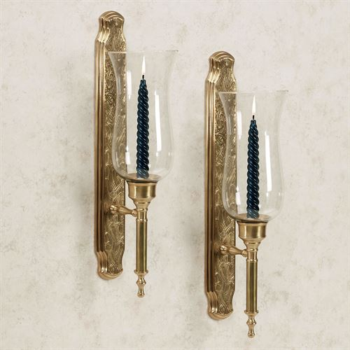 Marcario Hurricane Wall Sconce Satin Brass