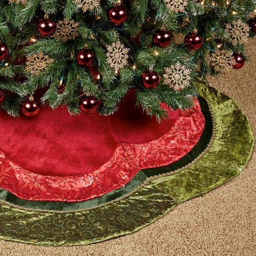 holiday glitter christmas tree skirt multi bright