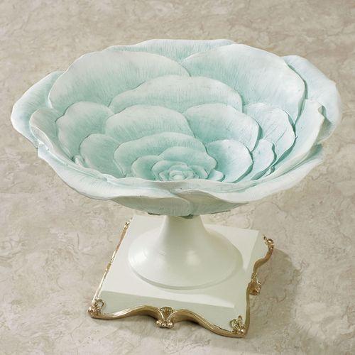 Rose Bloom Decorative Centerpiece Bowl Blue