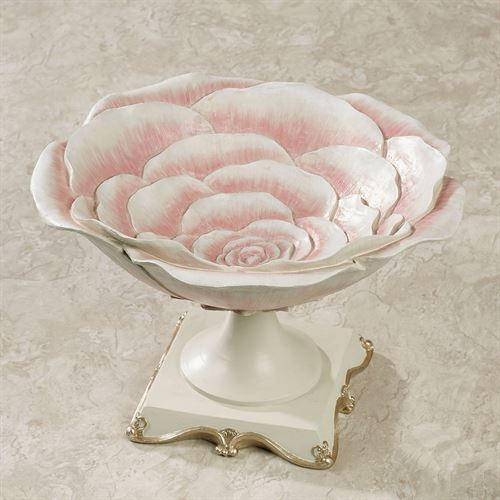 Rose Bloom Decorative Centerpiece Bowl Pink