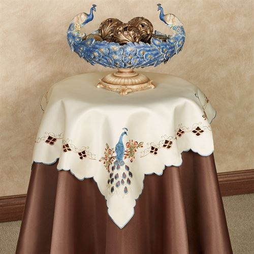 Proud Peacock Table Topper Multi Warm 36 Square