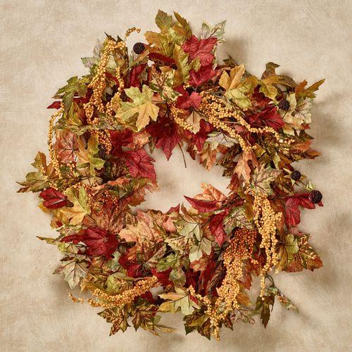 Maple Leaf Fall Wreath Multi Warm