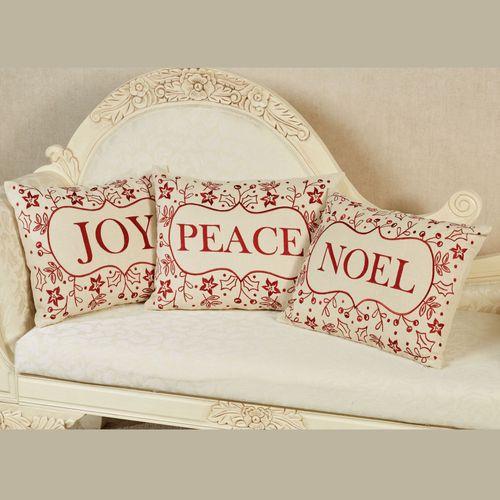 Joy Decorative Pillow Light Cream Rectangle