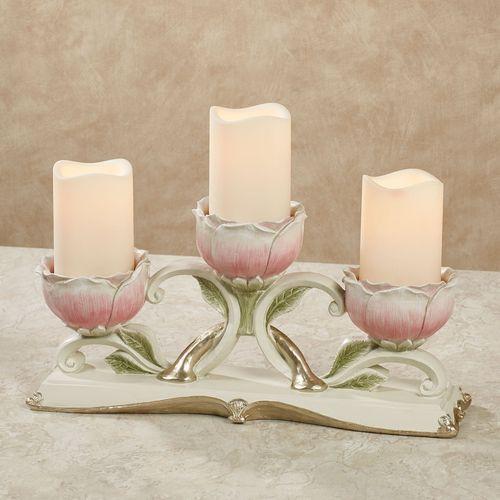 Rose Bloom Candelabra Pink