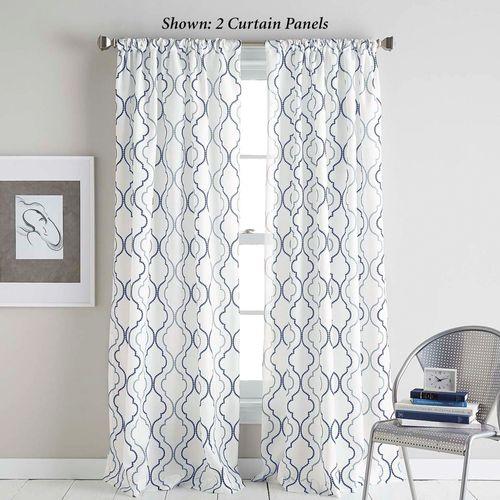 Nahla Semi Sheer Curtain Panel Denim