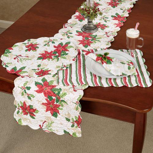 Holiday Garden Table Runner White 14 x 70