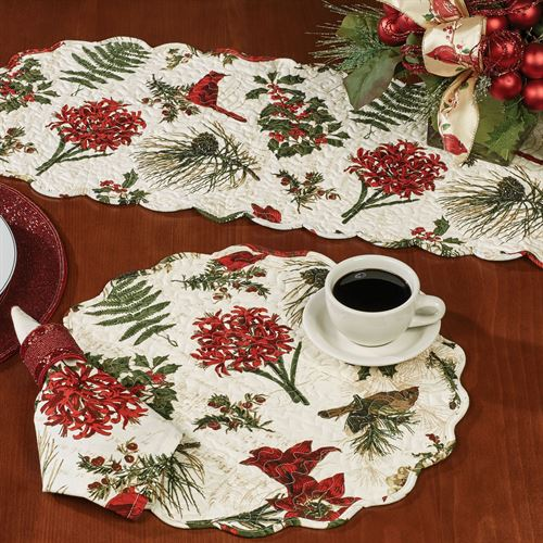 Nature Sings Table Runner Red 13 x 54