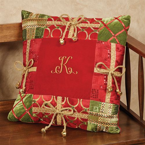 Christmas Present Decorative Pillow Red 18 Square