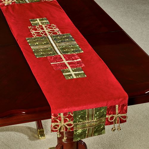 Christmas Present Table Runner Red 16 x 72