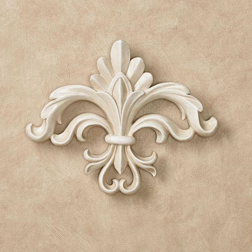 Rhett Fleur de Lis Wall Accent Antique White