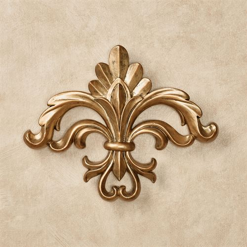 Rhett Fleur de Lis Wall Accent Harvest Gold