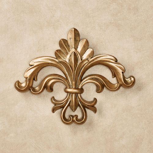 Rhett Fleur de Lis Wall Accent Harvest Gold