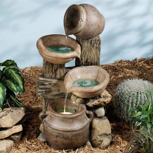 Forgotten Passage Water Fountain Tan