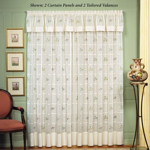 Mini Floral Sheer Curtain Panel