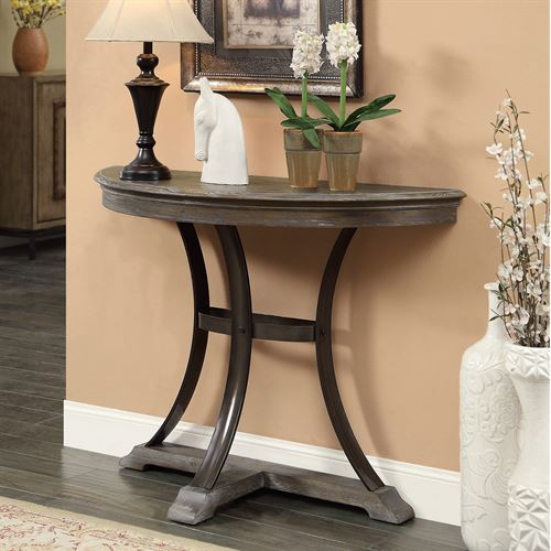 Weldon Console Table Aged Brown