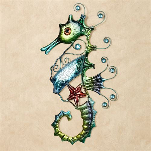 Mosaic Seahorse Wall Art Multi Cool