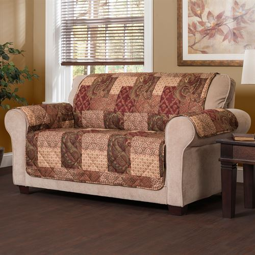 Patches Furniture Protector Multi Warm Recliner Wing Chair 263609d23