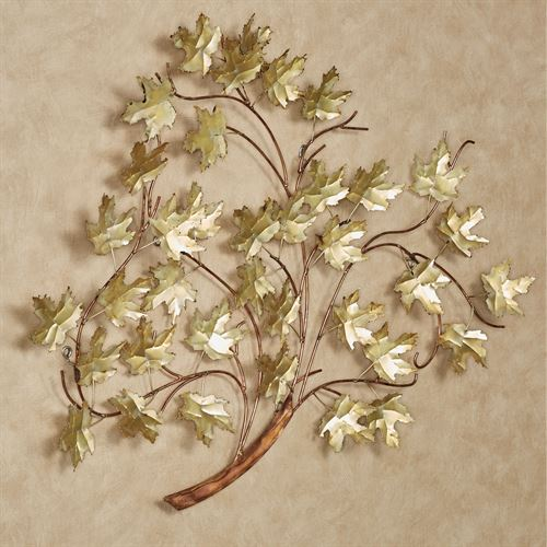 Golden Harmony Metal Wall Sculpture