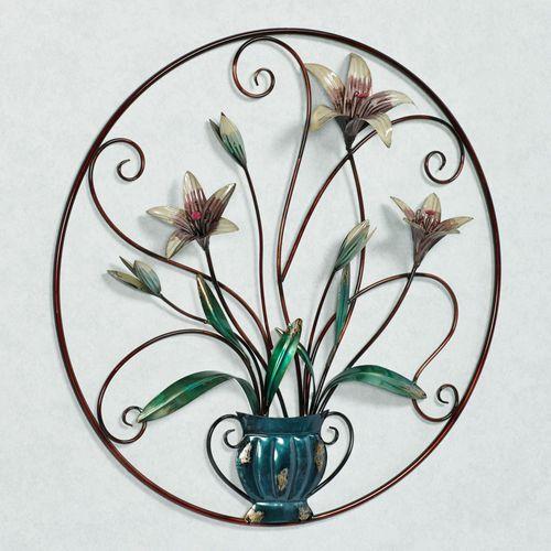 Garden Lily Wall Art Multi Pastel