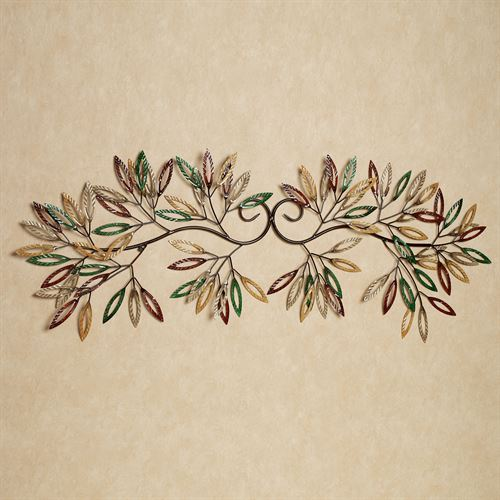 Leafy Branch Wall Art Multi Earth