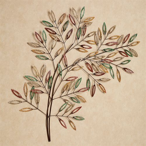 Leafy Tree Wall Art Multi Earth