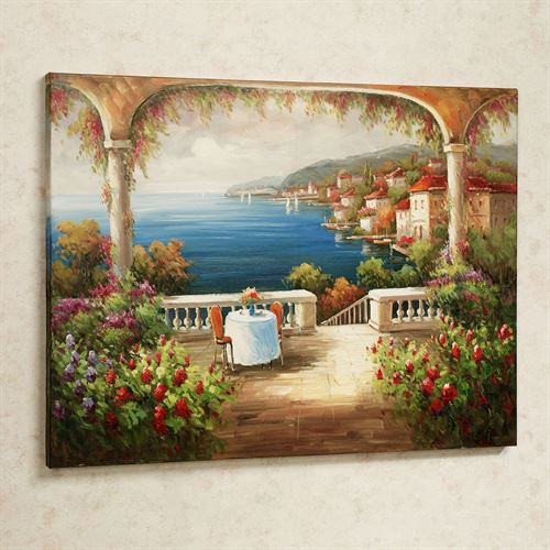 Lunch with a View Canvas Wall Art Multi Jewel
