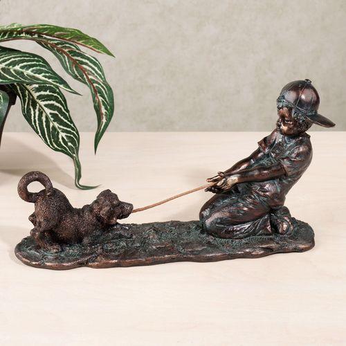 Tug of War Figurine Verdi Bronze