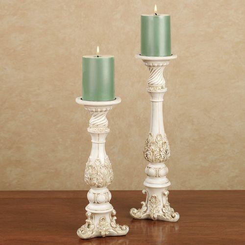 Brooklynn Ivory Candleholder Set Set of Two