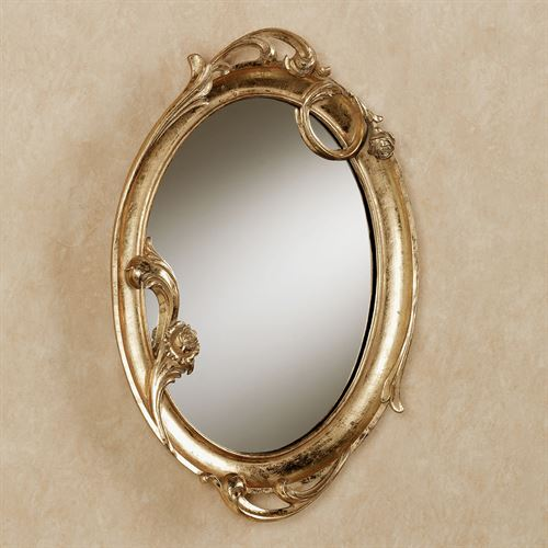 Art Nouveau Wall Mirror Gold