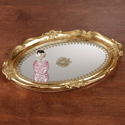 Adina Mirrored Vanity Tray Gold