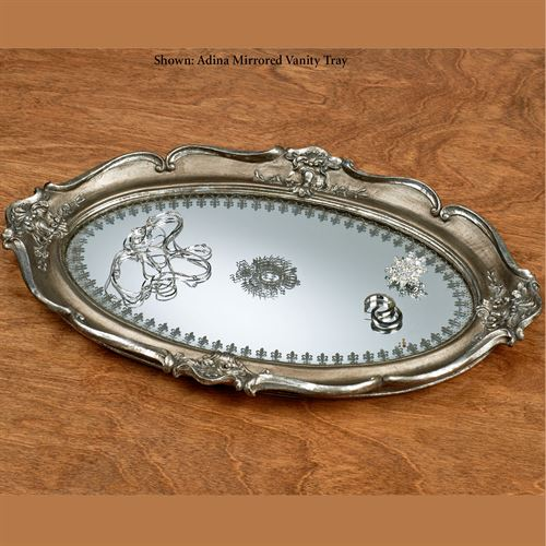 Adina Mirrored Vanity Tray Nickel