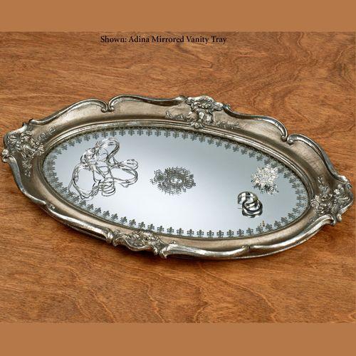 Adina Mirrored Vanity Tray Nickel
