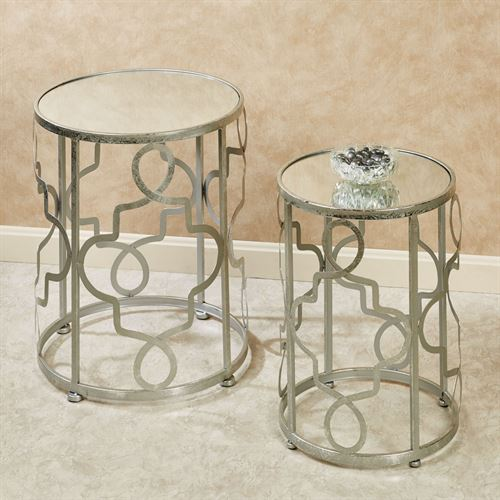 Damien Nesting Tables Silver Set of Two