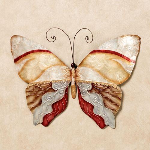 Butterfly Metal Wall Art Multi Earth