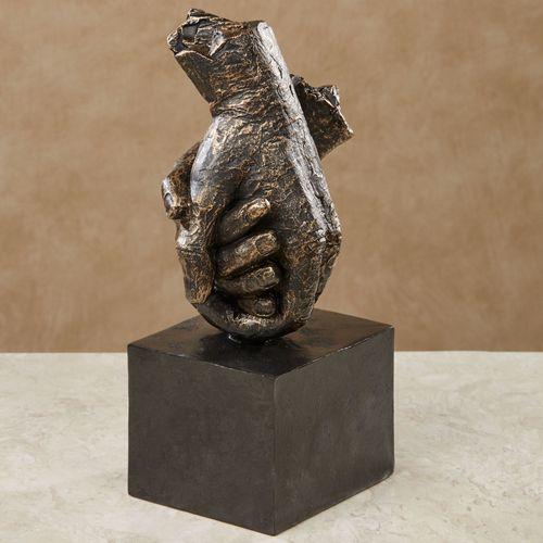 Your Hand in Mine Sculpture Black
