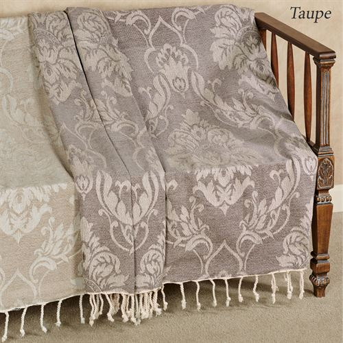 Damask Throw Blanket 50 x 60
