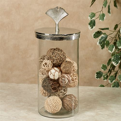 Saskia Covered Jar Nickel