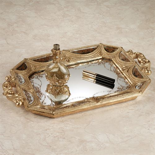 Nora Mirrored Vanity Tray Gold