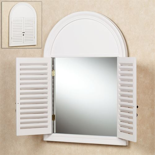 Plymouth Shutter Wall Mirror Off White