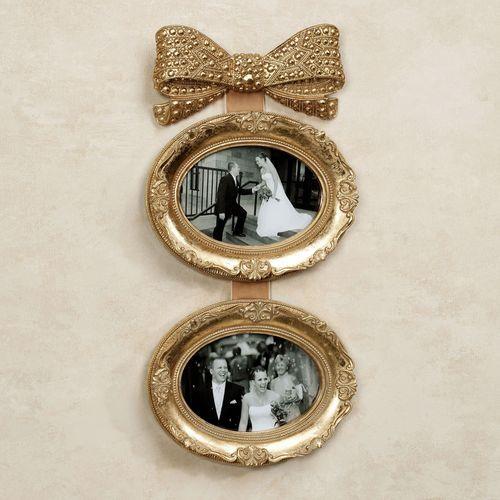 Mavita Bow Double Photo Frame Gold