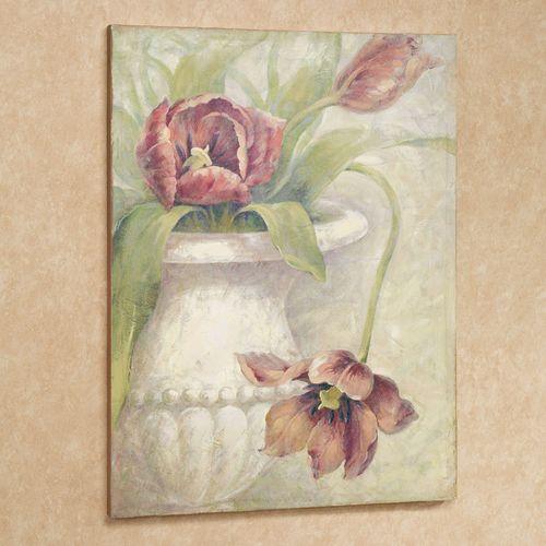 Vase of Tulips Canvas Wall Art Terra Cotta