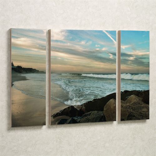 Evening Solitude Canvas Art Set Multi Cool Set of Three
