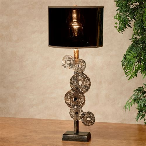 Sprockets Table Lamp Aged Gold