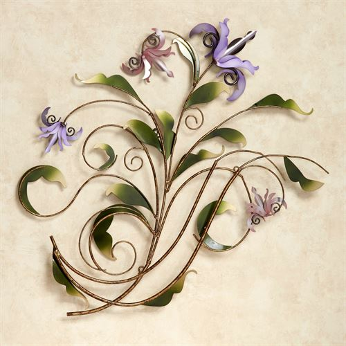 Floria Pastel Metal Wall Sculpture Multi Pastel
