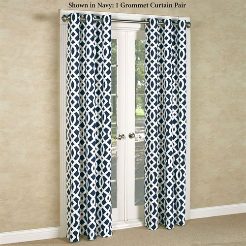 Trellis Grommet Curtain Pair