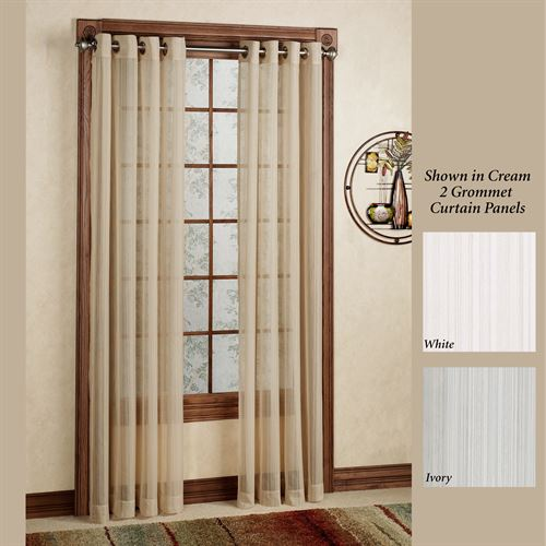 Atlantic Stripe Grommet Curtain Panel