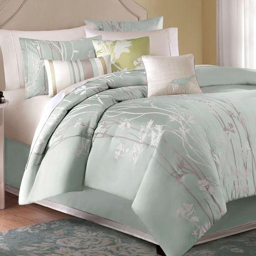 Callista Comforter Bed Set Celadon