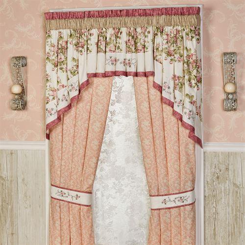 Daydream Tailored Curtain Pair Rose 84 x 84