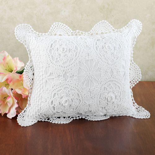 Crochet Flanged Rectangle Pillow  Rectangle