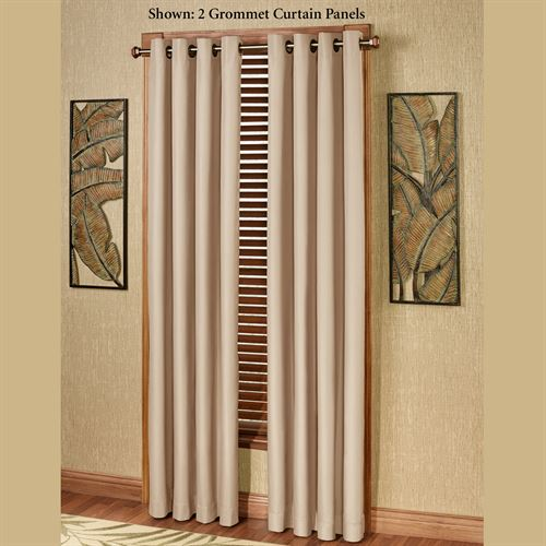 Paradise Solid Color Grommet Curtain Panel